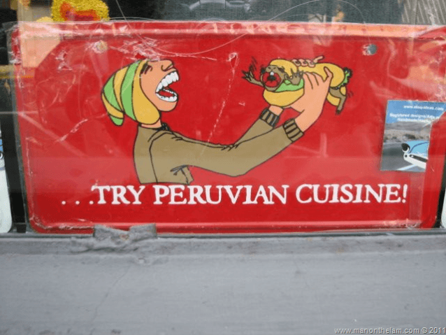 Travel Photo of the Week -- Try Peruvian Cuisine
