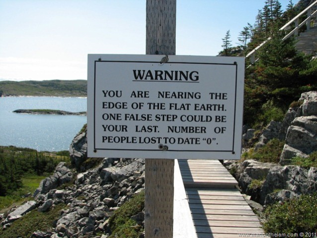 Flat Earth Sign at the Edge of the World