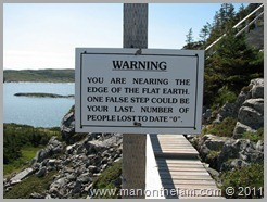 Flat Earth Sign, Fogo Island Newfoundland