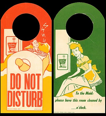 Vintage Holiday Inn Do Not Disturb Signs