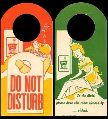 Vintage Do Not Disturb Sign