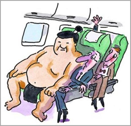 Airline Passenger Getting Elbowed