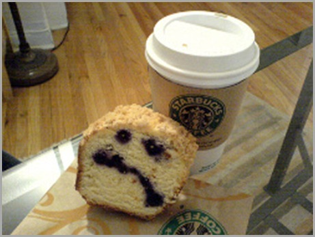 unhappy Starbucks cake