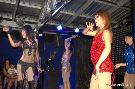 Ladyboys Performing at Starz Cabaret
