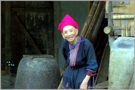 Old tribe woman in Sapa Vietnam