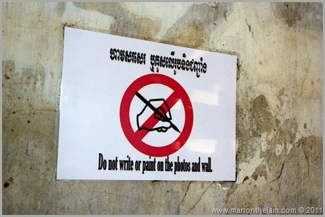 Do not write or paint on the photos or wall