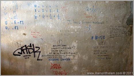 Graffiti at Tuol Sleng Genocide Museum, Phnom Penh, Cambodia