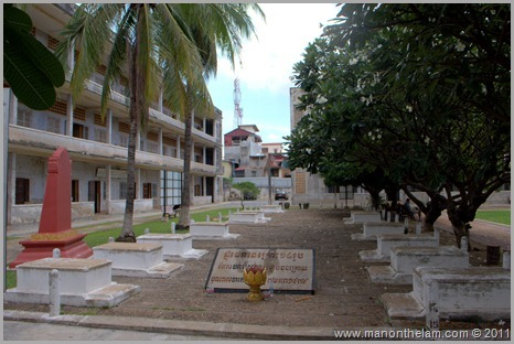 Graves at Tuol Sleng Genocide Museum, Phnom Penh, Cambodia