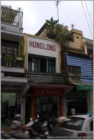 Hung Long Store sign, Hanoi, Vietnam