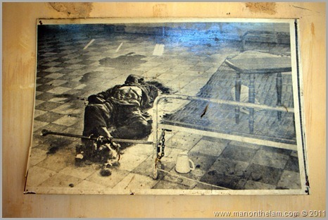 Photo of S21 prison victim, Phnom Pehn, Cambodia