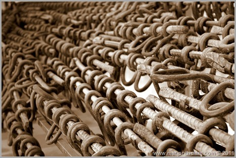 Prison shackles, Tuol Sleng Genocide Museum, Phnom Penh, Cambodia