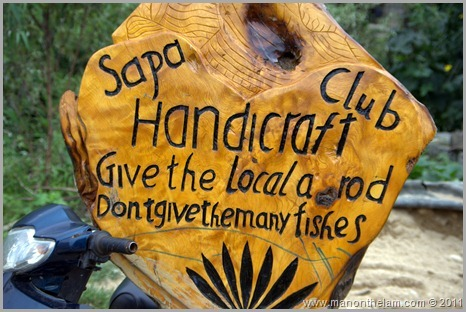 Sapa Handicraft Club sign, Vietnam