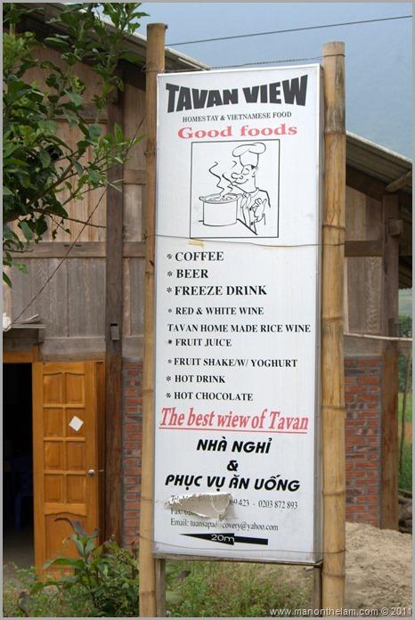 Tavan, Vietnam shop sign