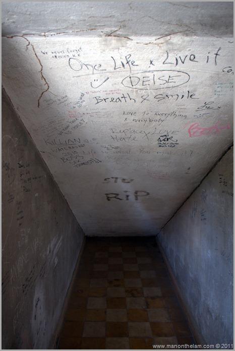 Tuol Sleng S21 wall graffiti