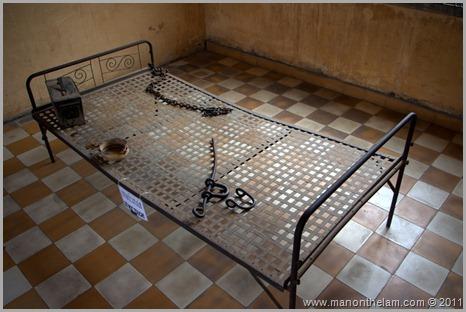 Tuol Sleng prison bed