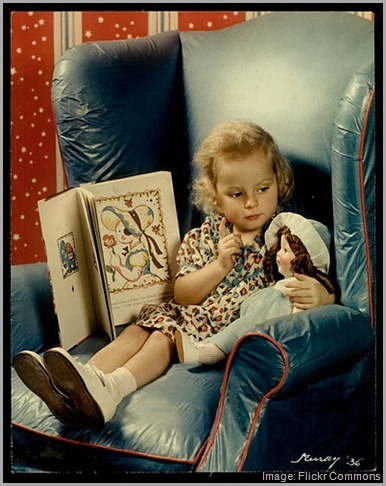 Finding life meaning -- girl talking to doll