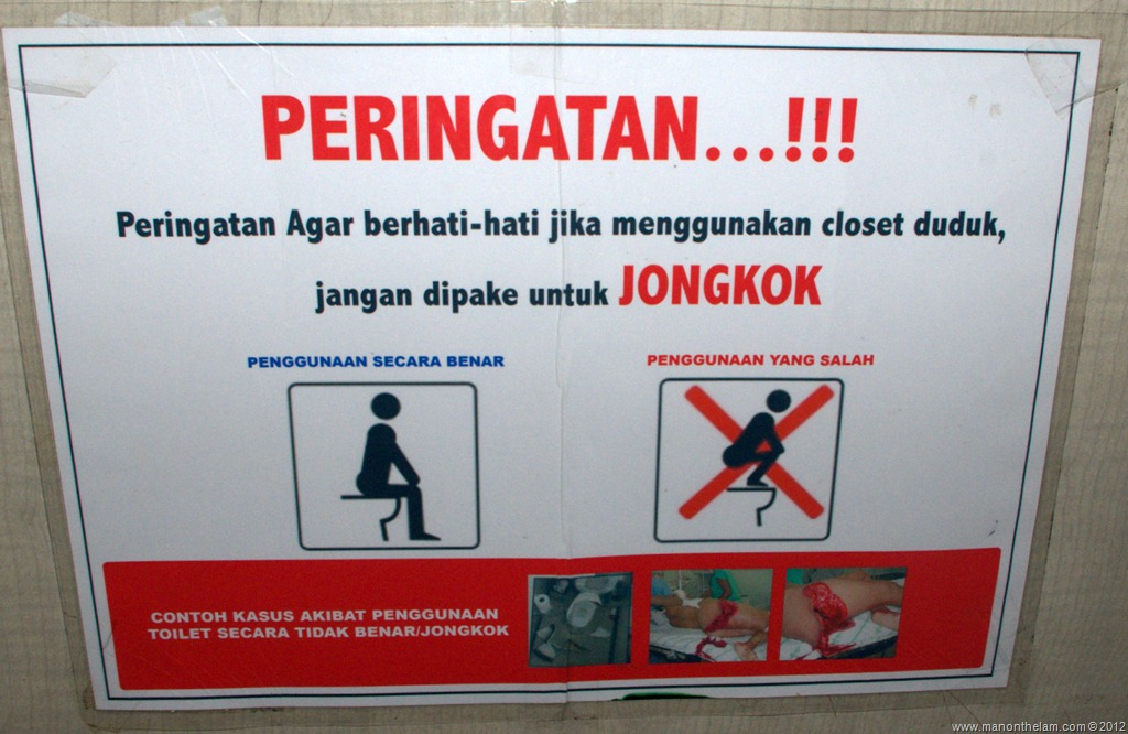 I Took This In The Mens Room At A Pool Hall In Manado Indonesia But After Taking A Closer Look Theres Nothing Funny About This Sign At All