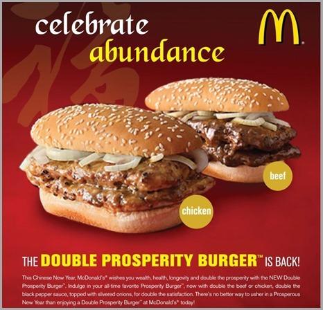 McDonald's Double Prosperity Burger Celebrates Abundance