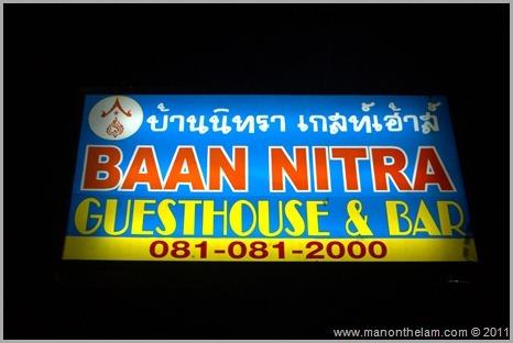 Roomorama Baan Nitra Guesthouse  and Bar sign Phuket Thailand