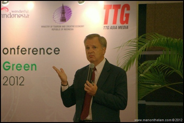 Dr. Andy Nazarechuk, President of Asia-Pacific CHRIE at ASEAN Tourism Forum 2012, Manado Indonesia