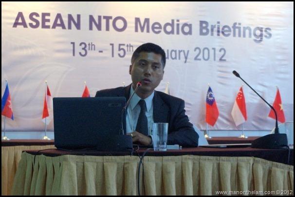 Manado Indonesa TRAVEX ATF2012 Myanmar Media Briefing from Phroe Wai Yarzar, Secretary of Myanmar Tourism Board