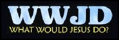 WWJD What Would Jesus Do bumper sticker