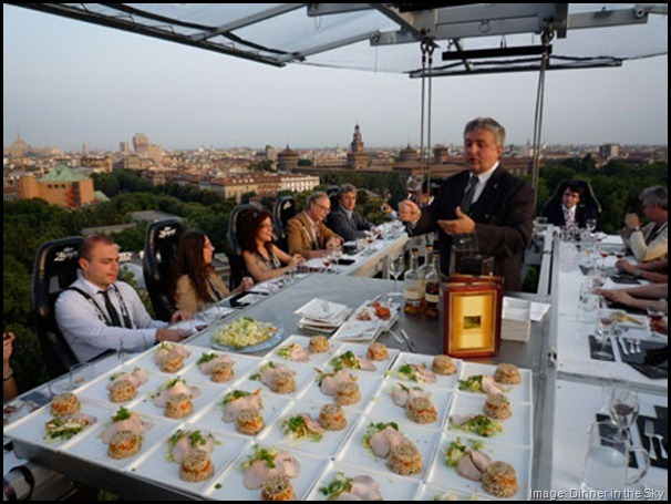 Dinner in the Sky Italy -- quirky fun and offbeat things to do in Rome