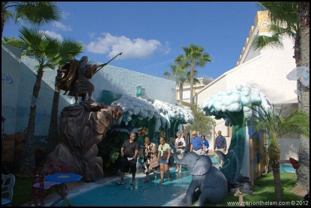 Holy Land Experience -- Moses parts the Red Sea, Quirky Orlando Attractions, Things to do in Orlando, Florida