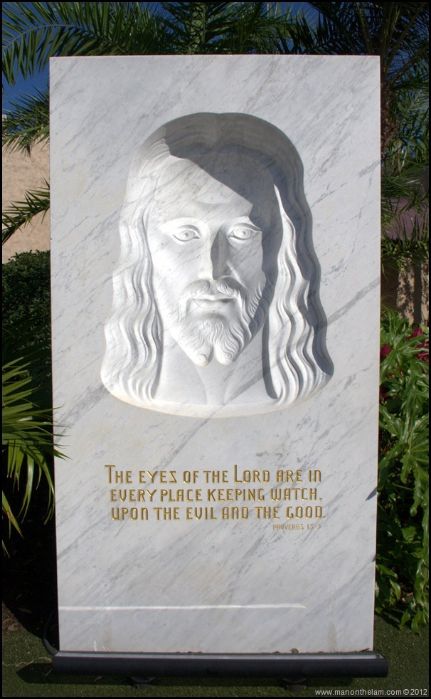 The Face of Jesus Statue - The Holy Land Experience - theme park in Orlando, Florida - Aeroplan Welcome Aboard Event - images of Jesus, Jesus fotos, Christ photo, pictures of the face of Lord Jesus Christ