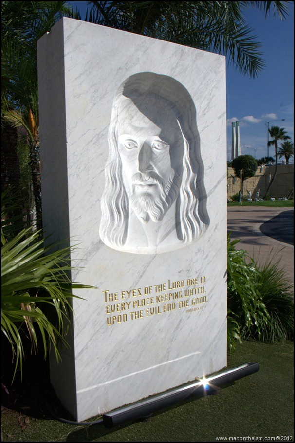 The Face of Jesus Statue left photo image - The Holy Land Experience - Orlando, Florida - Aeroplan Welcome Aboard Event