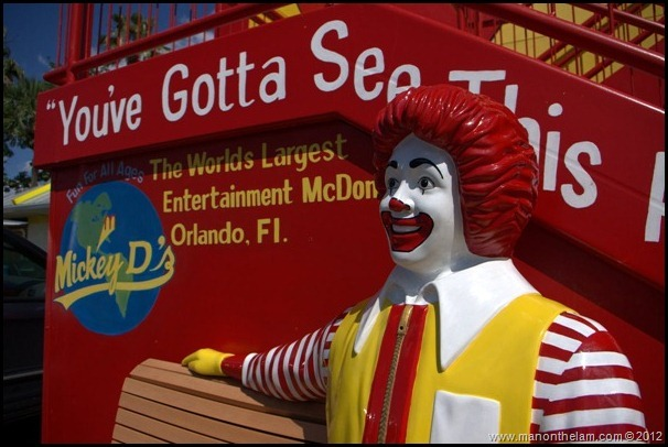 World's Largest McDonald's, Orlando, Florida Aeroplan -- Quirky Things to do in Orlando, Florida