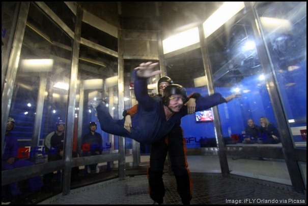 iFLY Orlando indoor skydiving, vertical wind tunnel -- Quirky things to do in Orlando, Florida