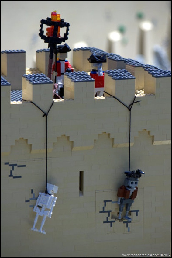 An old-fashioned public hanging -- Lego style. Miniland USA, Legoland Florida, Aeroplan Welcome Aboard Event