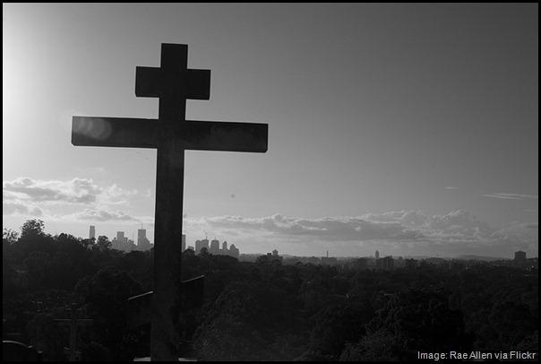 Brisbane skyline as seen from cemetery