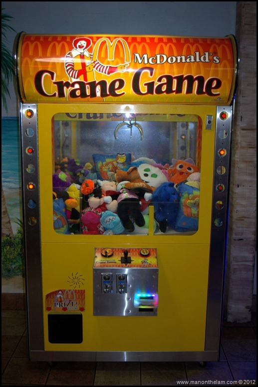 Crane Game in Games Room at World's Largest McDonald's, Orlando, Florida Aeroplan Welcome Aboard Event