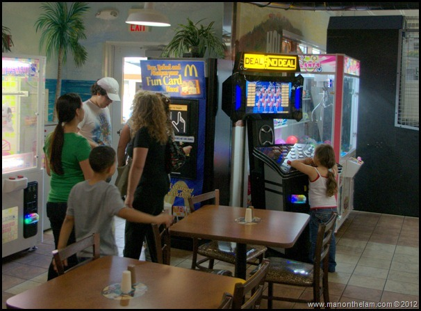 Deal or No Deal video game at World's Largest McDonald's, Orlando, Florida Aeroplan Welcome Aboard Event