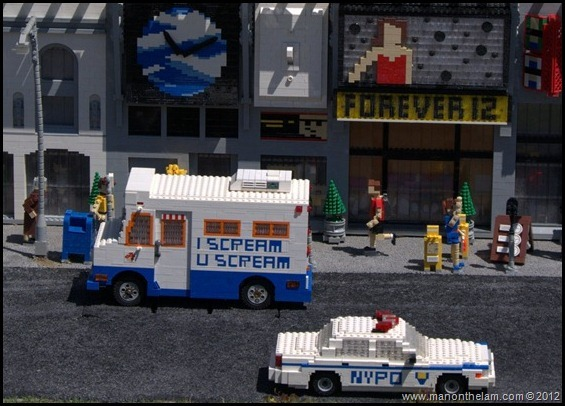 Ice cream truck in NYC, ice cream van, lego police car, lego truck,  Legoland Florida, Aeroplan Welcome Aboard Event