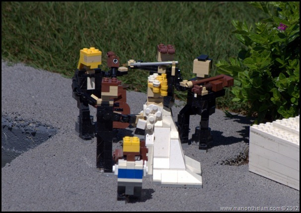 lego love, lego wedding, lego band, Midget marrying a couple, Miniland USA, Legoland Florida, Aeroplan Welcome Aboard Event