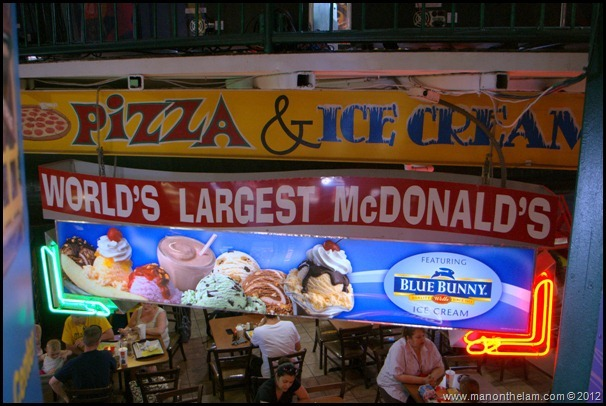 Pizza and Ice Cream Sign - World's Largest McDonald's, Orlando, Florida Aeroplan Welcome Aboard Event
