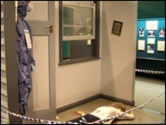 Queensland Police Museum, Quirky things to do in Brisbane, Crime scene investigation, solve a murder