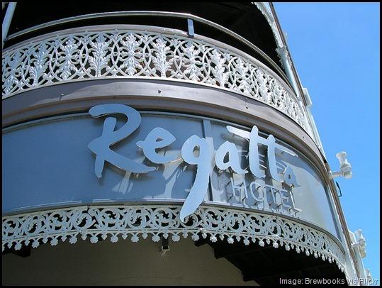 Regatta Hotel sign, Brisbane Australia, quirky, unusual, odd, bizaare things to do in Brisbane -- loo with a view