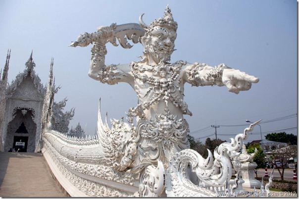 Guard -- Wat Rong Khun, White Temple, Chiang Rai, Thailand