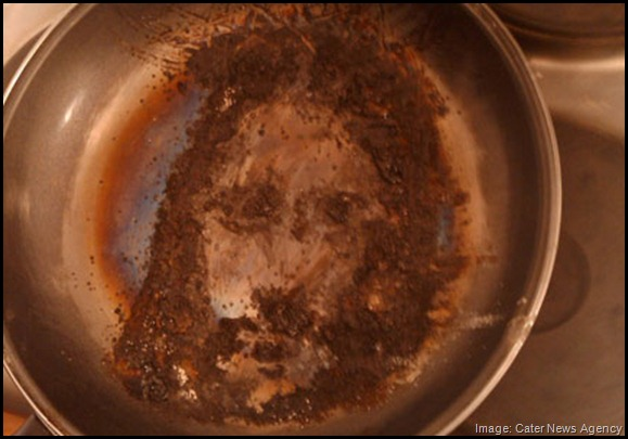Jesus image in frying pan