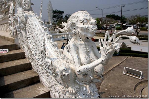 Naked creature -- Wat Rong Khun, White Temple, Chiang Rai, Thailand