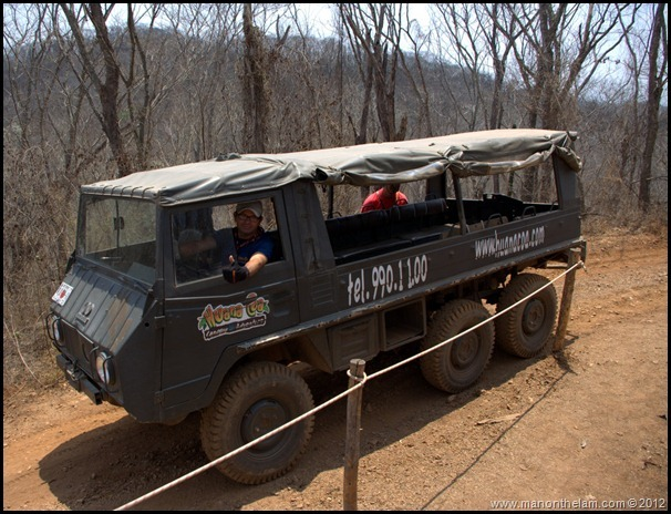 Pinzgauer Swiss Army vehicle -- Huana Coa Canopy Adventure Zip Line Tour, Mazatlan, Mexico, #GoMazatlanNow