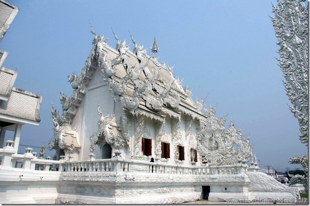 Side view of temple -- -- Wat Rong Khun, White Temple, Chiang Rai, Thailand