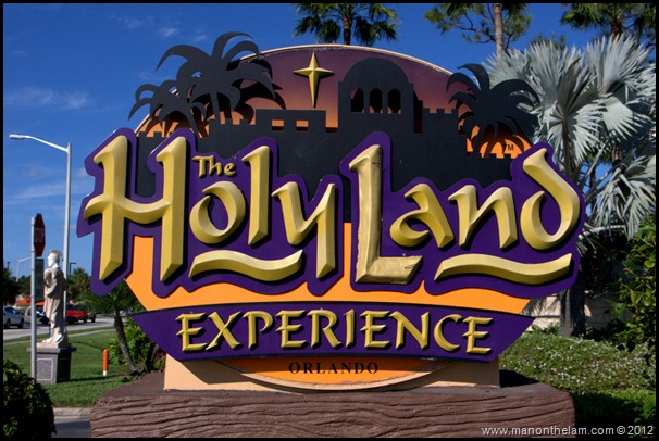 The Holy Land Experience entrance sign, Orlando Florida