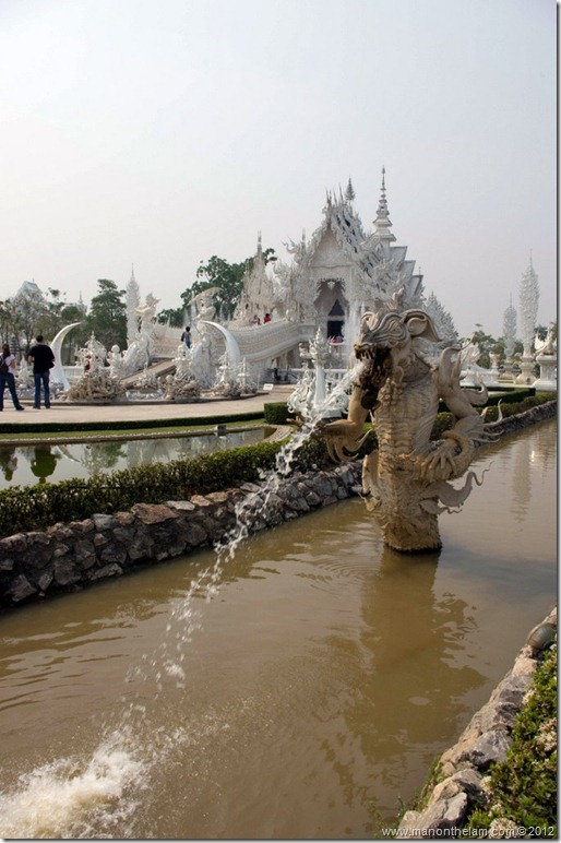 Water Fountain at Wat Rong Khun, White Temple, Chiang Rai, Thailand