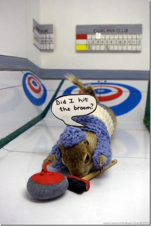 Gopher curling at Gopher Hole Museum, Torrington Alberta
