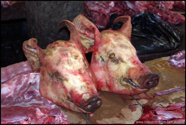 Pig's heads -- Tomohon Traditional Market, Tomohon, North Sulawesi, Indonesia 13